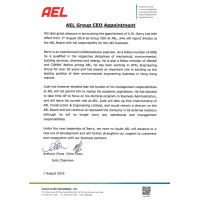AEL Group CEO Appointment